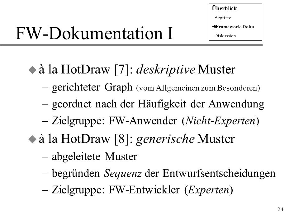 15 dokumentation in form muster. fw dokumentation i la hotdraw 7 ...